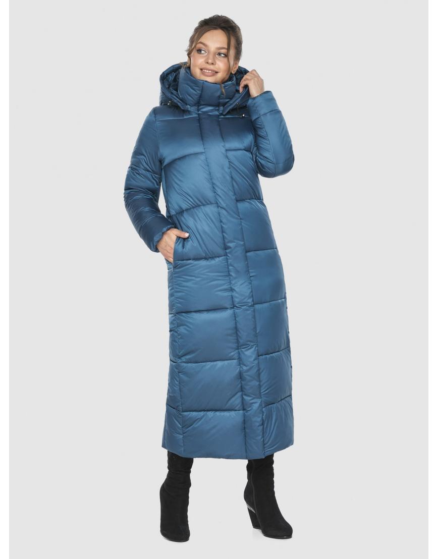 Куртка женская Ajento аквамариновая длинная 21972 фото 1