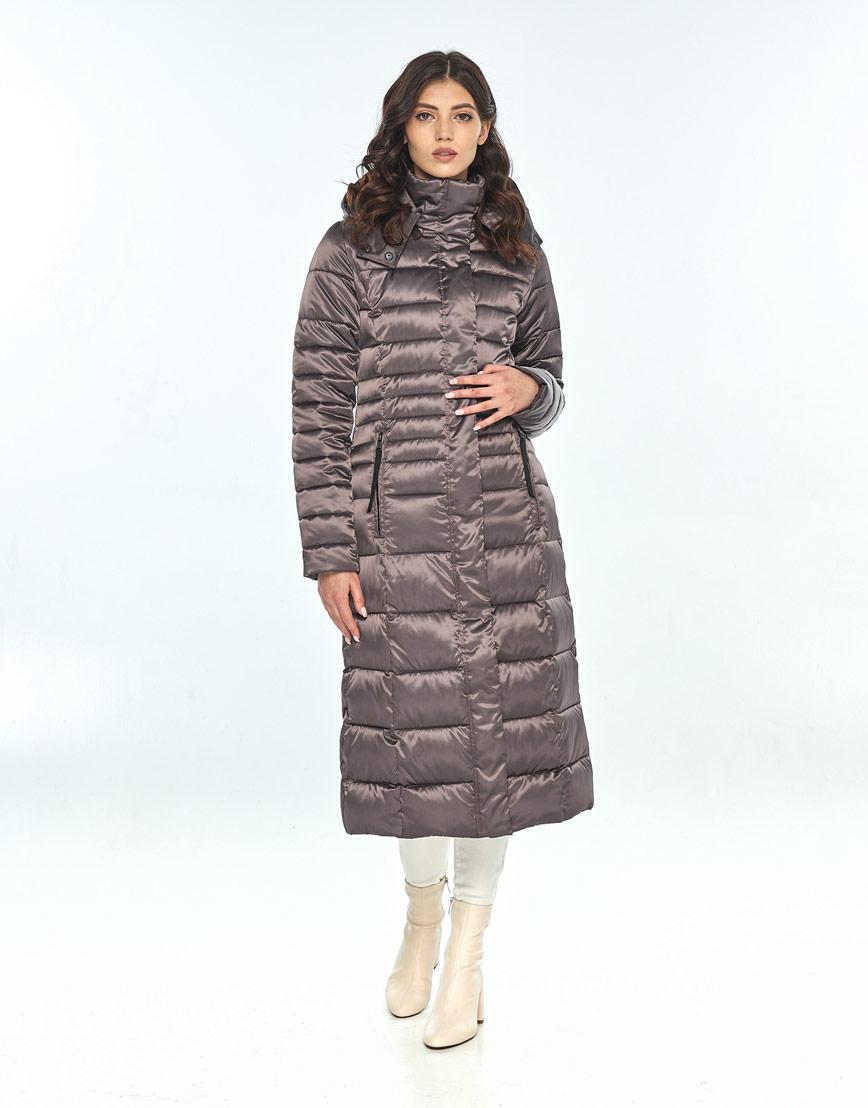 Модная капучиновая куртка большого размера женская Vivacana 8140/21 фото 2