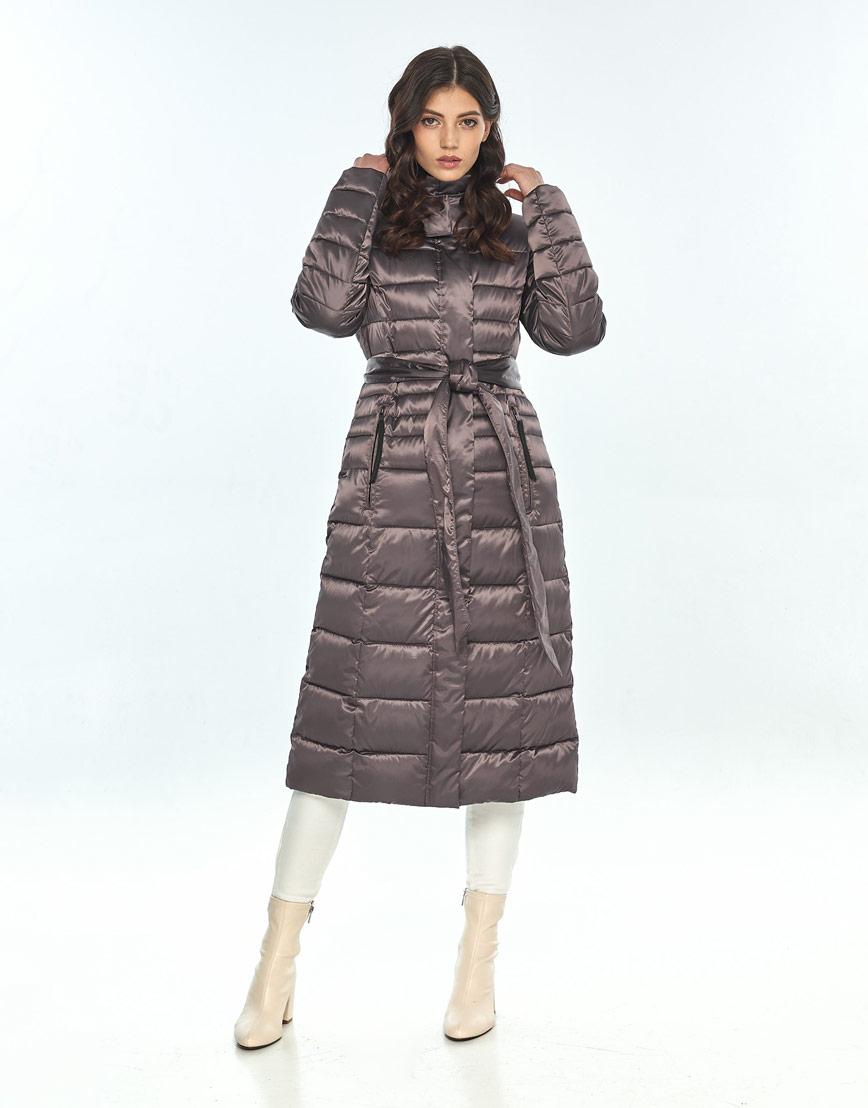 Модная капучиновая куртка большого размера женская Vivacana 8140/21 фото 1
