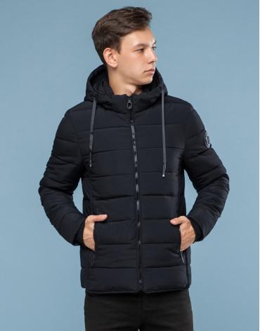 Фабричная подростковая черная куртка модель 6009-1 фото 1