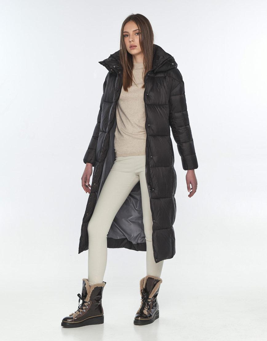 Оригинальная чёрная куртка женская Wild Club на зиму 541-74 фото 2