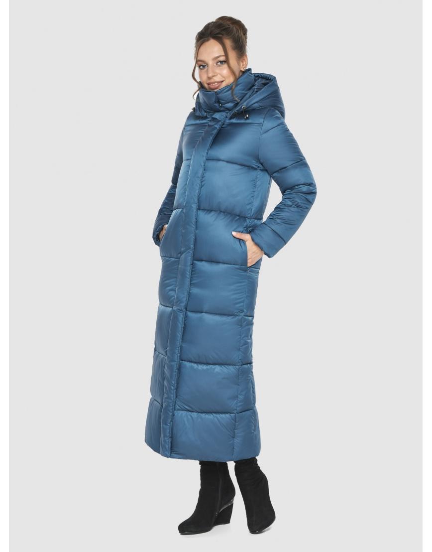 Куртка женская Ajento аквамариновая длинная 21972 фото 3