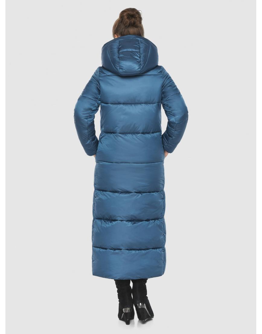 Куртка женская Ajento аквамариновая длинная 21972 фото 4