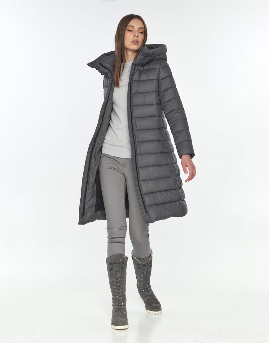 Стильная зимняя куртка женская Wild Club серая 522-65 фото 1