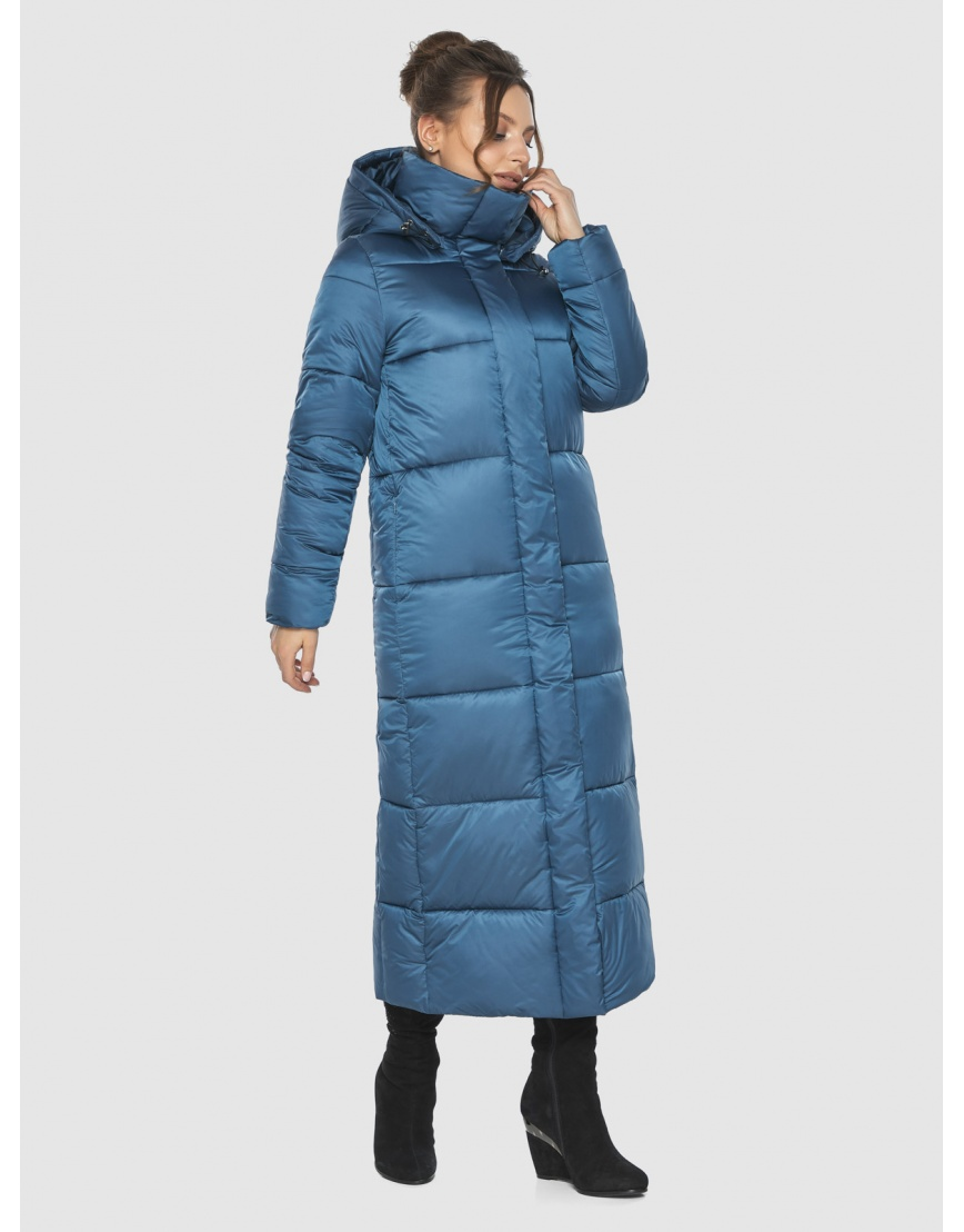 Куртка женская Ajento аквамариновая длинная 21972 фото 5
