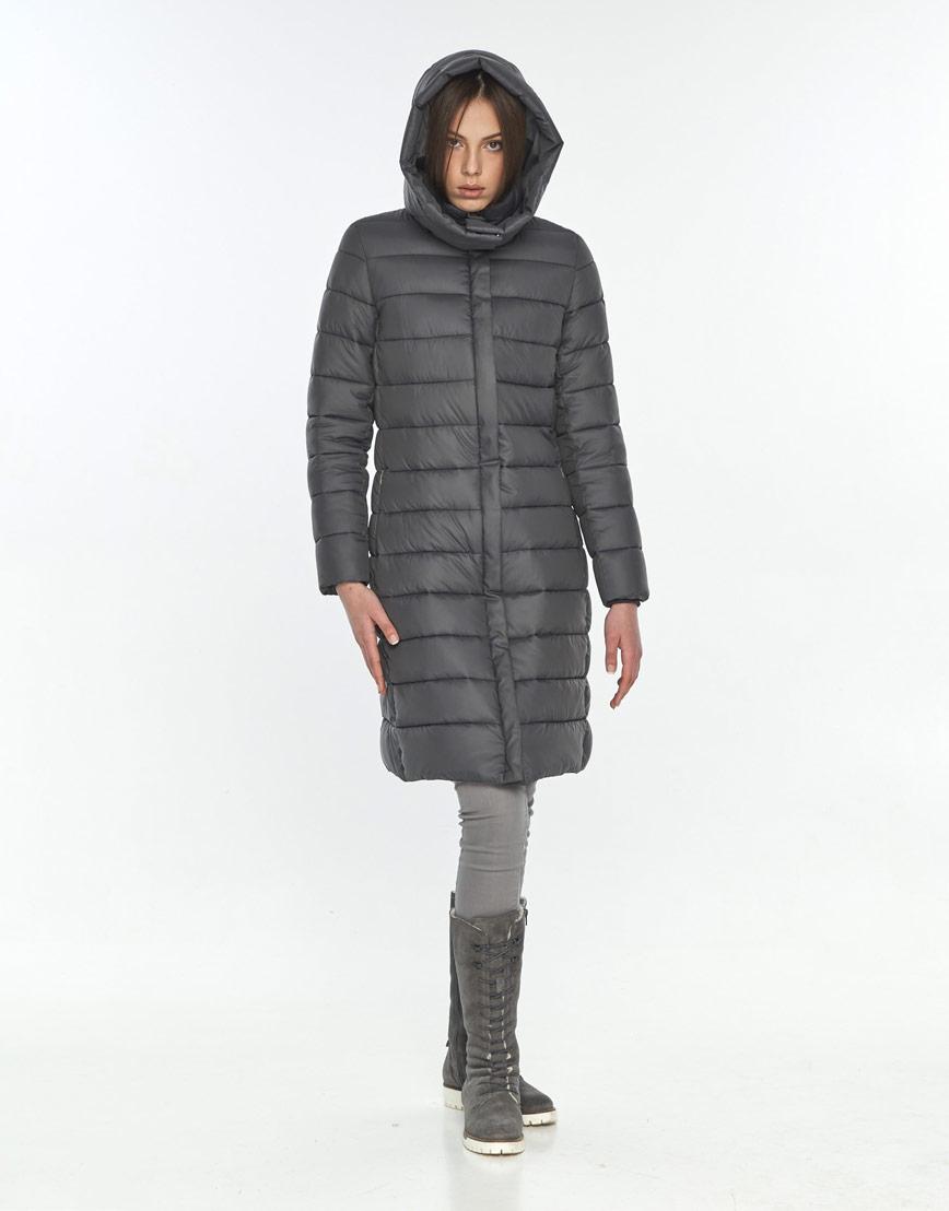 Стильная зимняя куртка женская Wild Club серая 522-65 фото 2