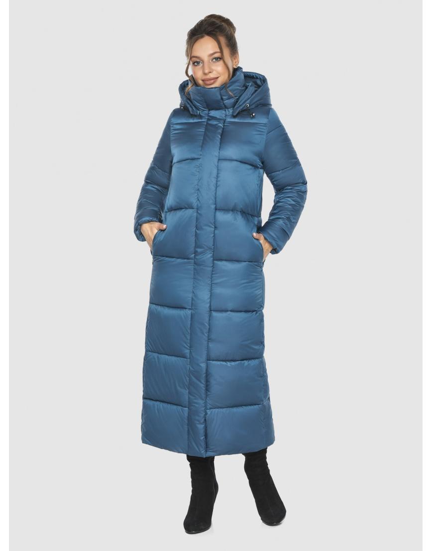 Куртка женская Ajento аквамариновая длинная 21972 фото 2