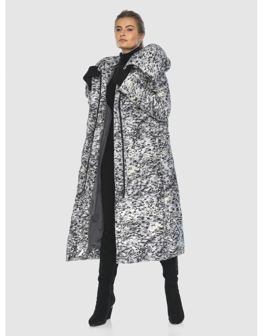Удлинённая комфортная женская куртка Ajento с рисунком 21550 фото 5