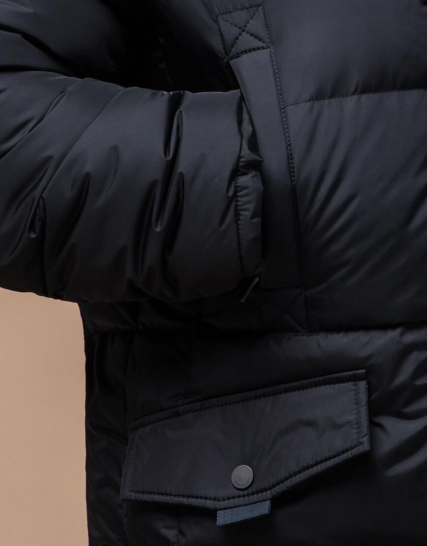 Черная куртка удобная большого размера модель 2084 фото 5