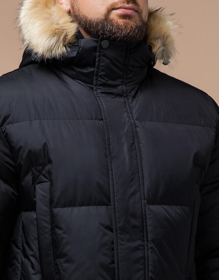 Черная куртка удобная большого размера модель 2084 фото 4