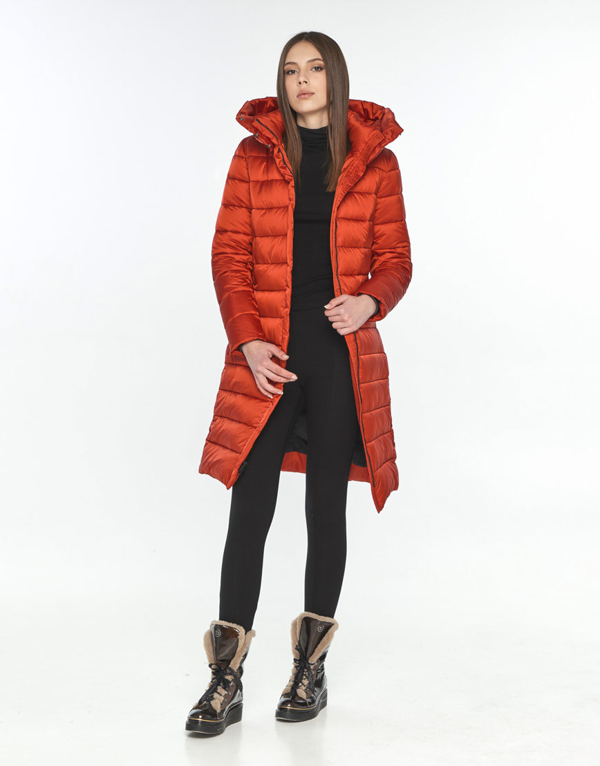 Практичная красная куртка Wild Club женская зимняя 522-65 фото 2