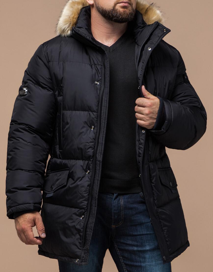 Черная куртка удобная большого размера модель 2084 фото 1