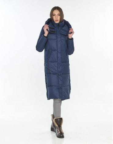Фирменная синяя куртка подростковая Wild Club зимняя 534-23 фото 1