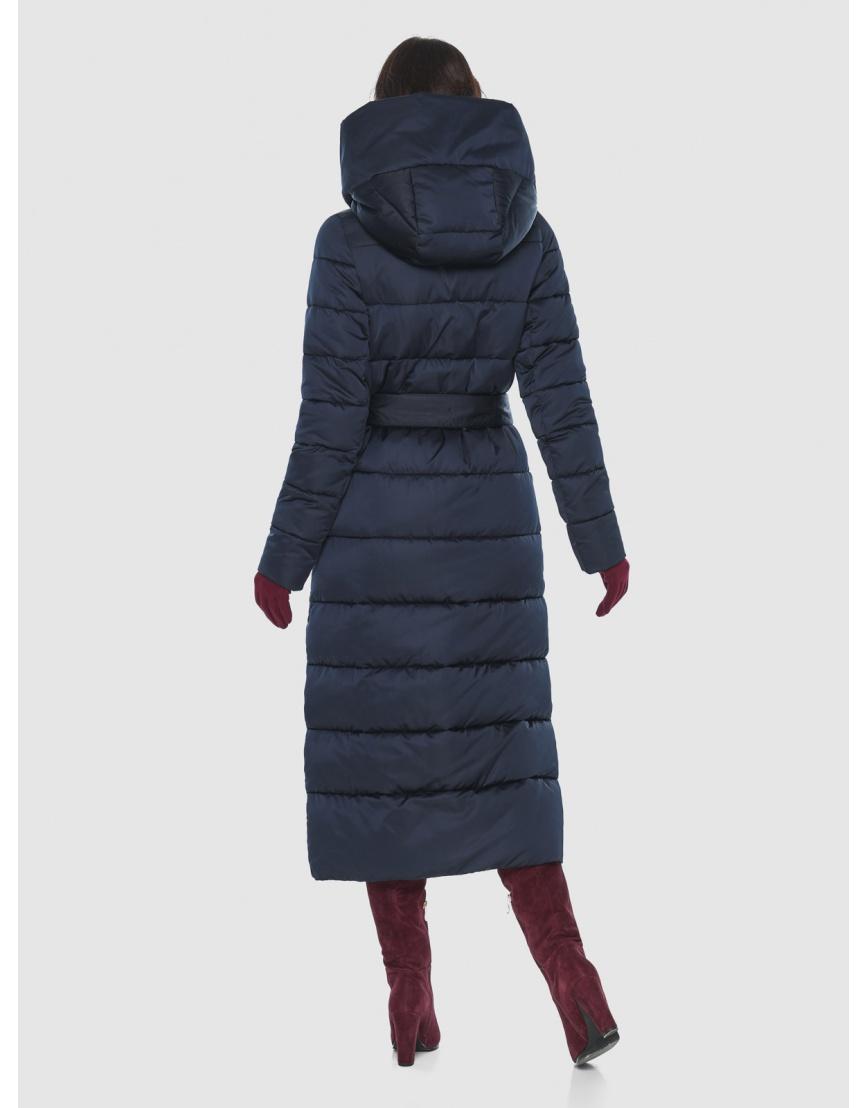 Современная синяя куртка женская Vivacana 9405/21 фото 4