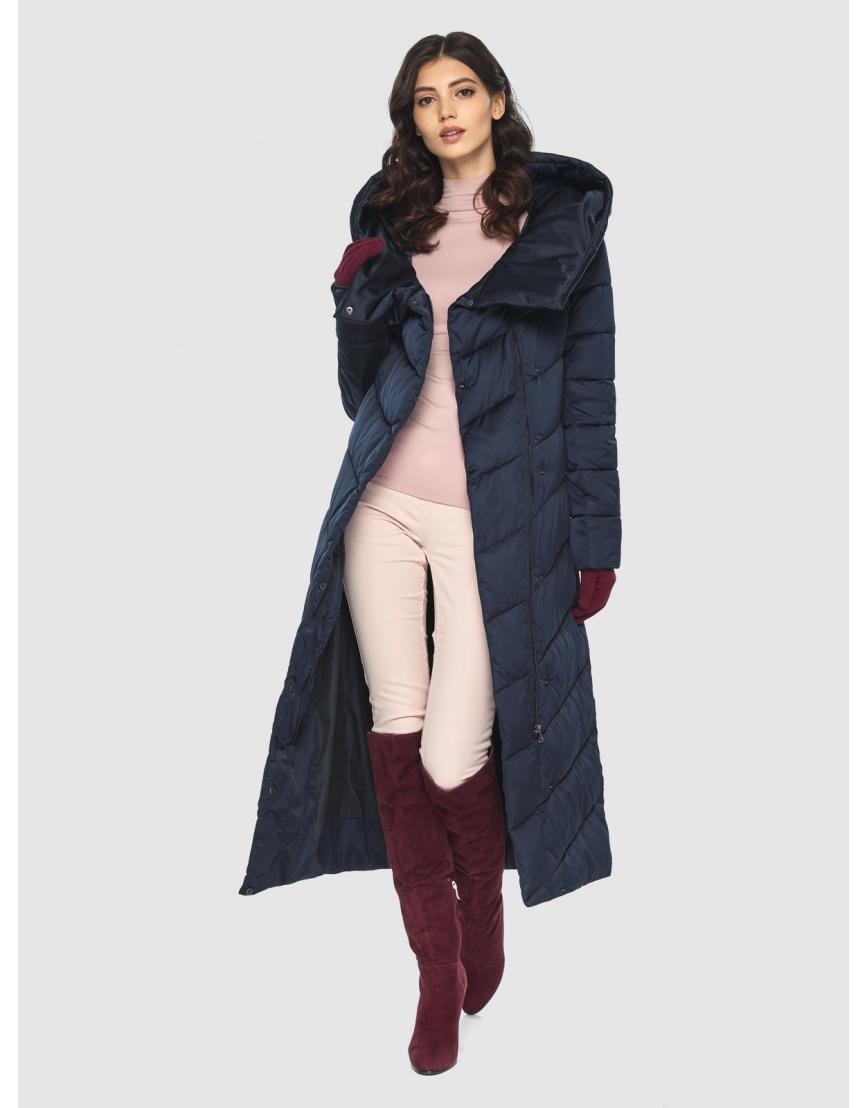Современная синяя куртка женская Vivacana 9405/21 фото 6
