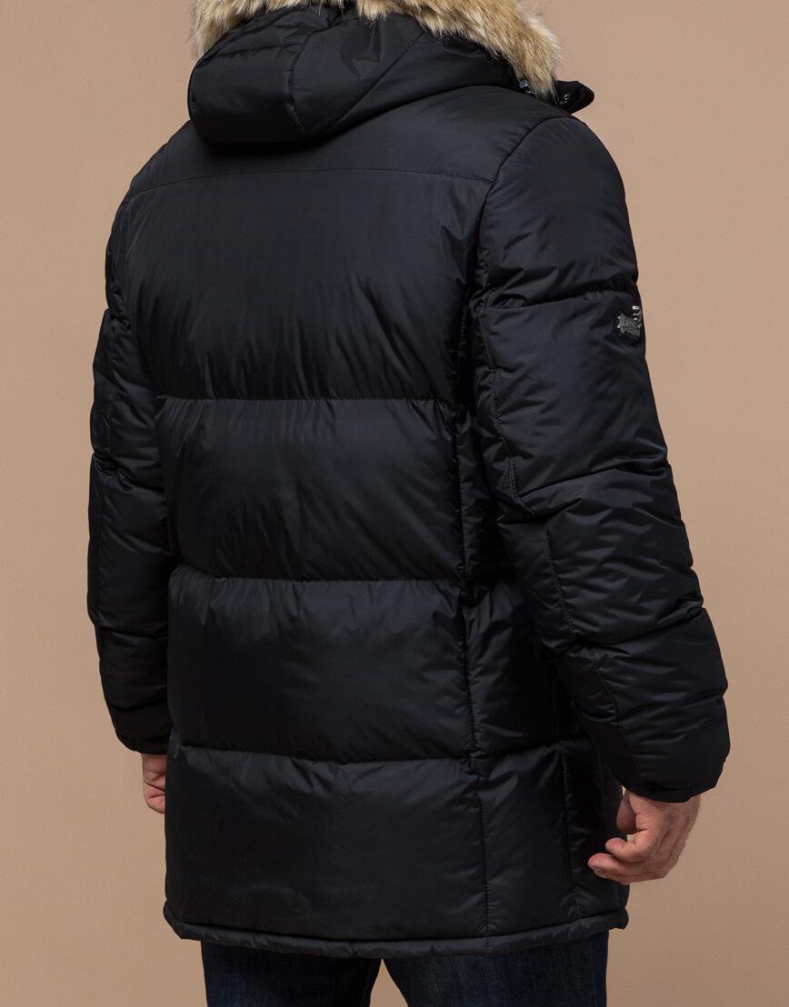 Черная куртка удобная большого размера модель 2084 фото 3
