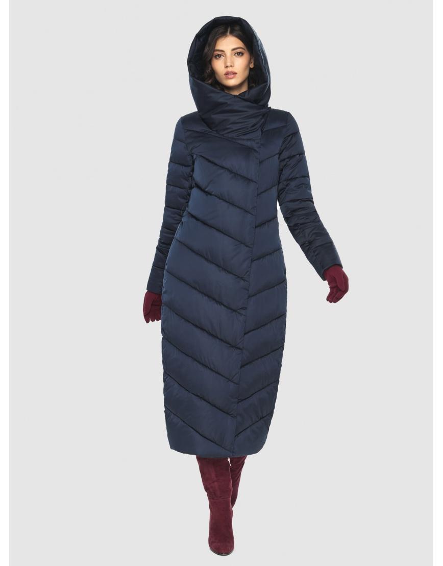 Современная синяя куртка женская Vivacana 9405/21 фото 2