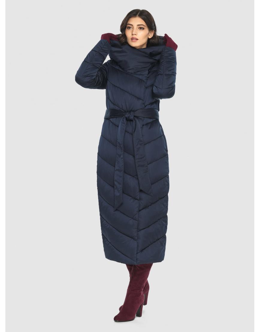 Современная синяя куртка женская Vivacana 9405/21 фото 5