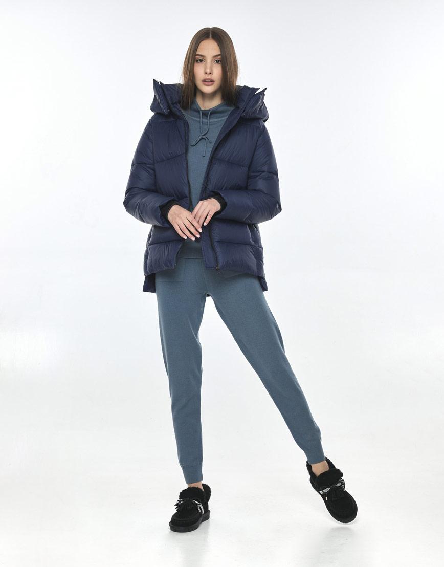 Синяя куртка подростковая для девочки Vivacana 7354/21 фото 2