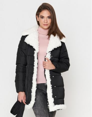 Женская куртка черная оригинальная модель 2162