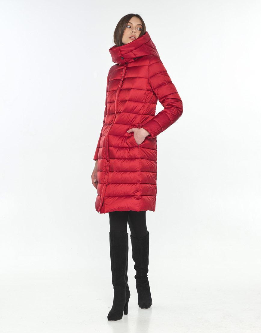 Практичная красная куртка Wild Club женская зимняя 522-65 фото 1