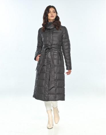 Оригинальная куртка большого размера женская Vivacana серая 8140/21 фото 1