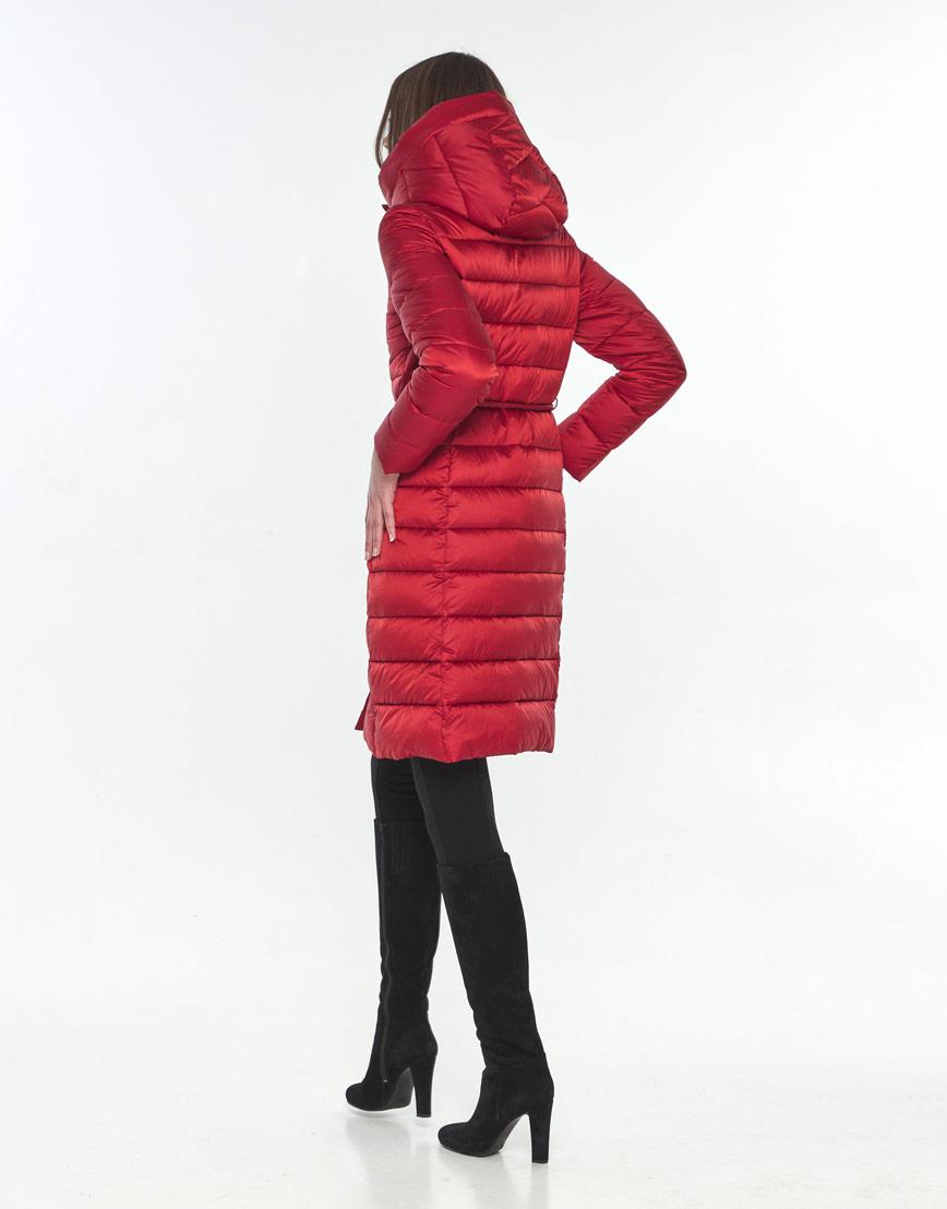 Практичная красная куртка Wild Club женская зимняя 522-65 фото 3