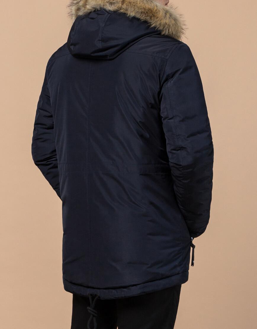Парка зимняя синяя для мужчин модель 31720 оптом