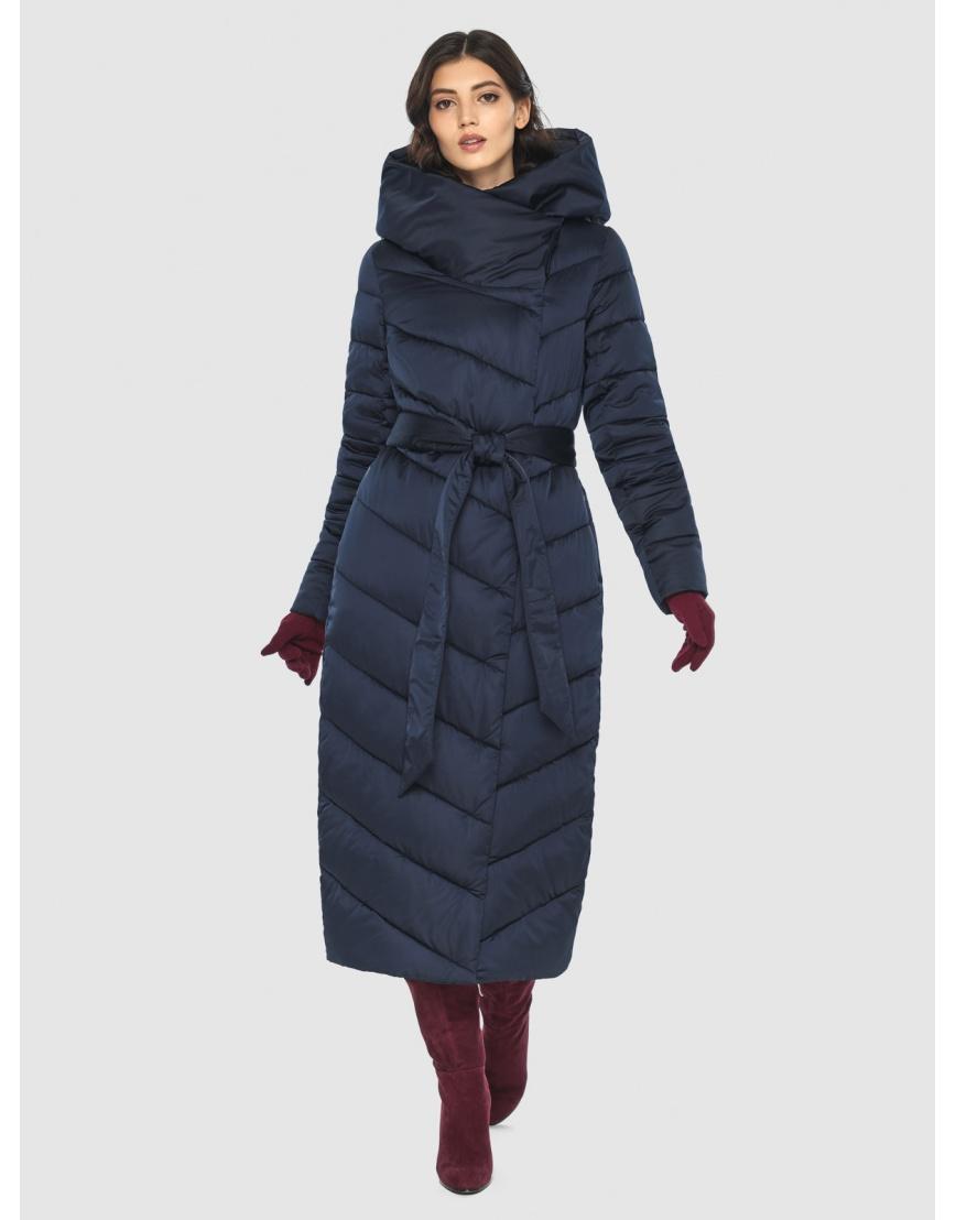 Современная синяя куртка женская Vivacana 9405/21 фото 3
