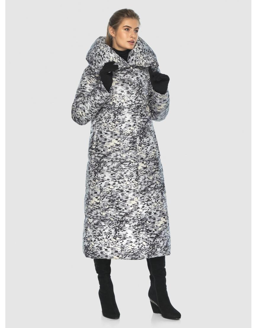 Удлинённая комфортная женская куртка Ajento с рисунком 21550 фото 1