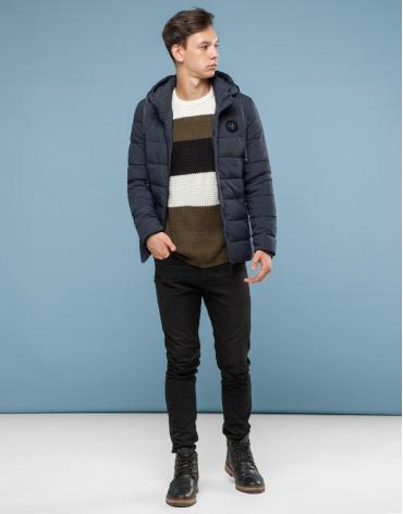 Серая куртка современного дизайна подростковая модель 6015-1 фото 1