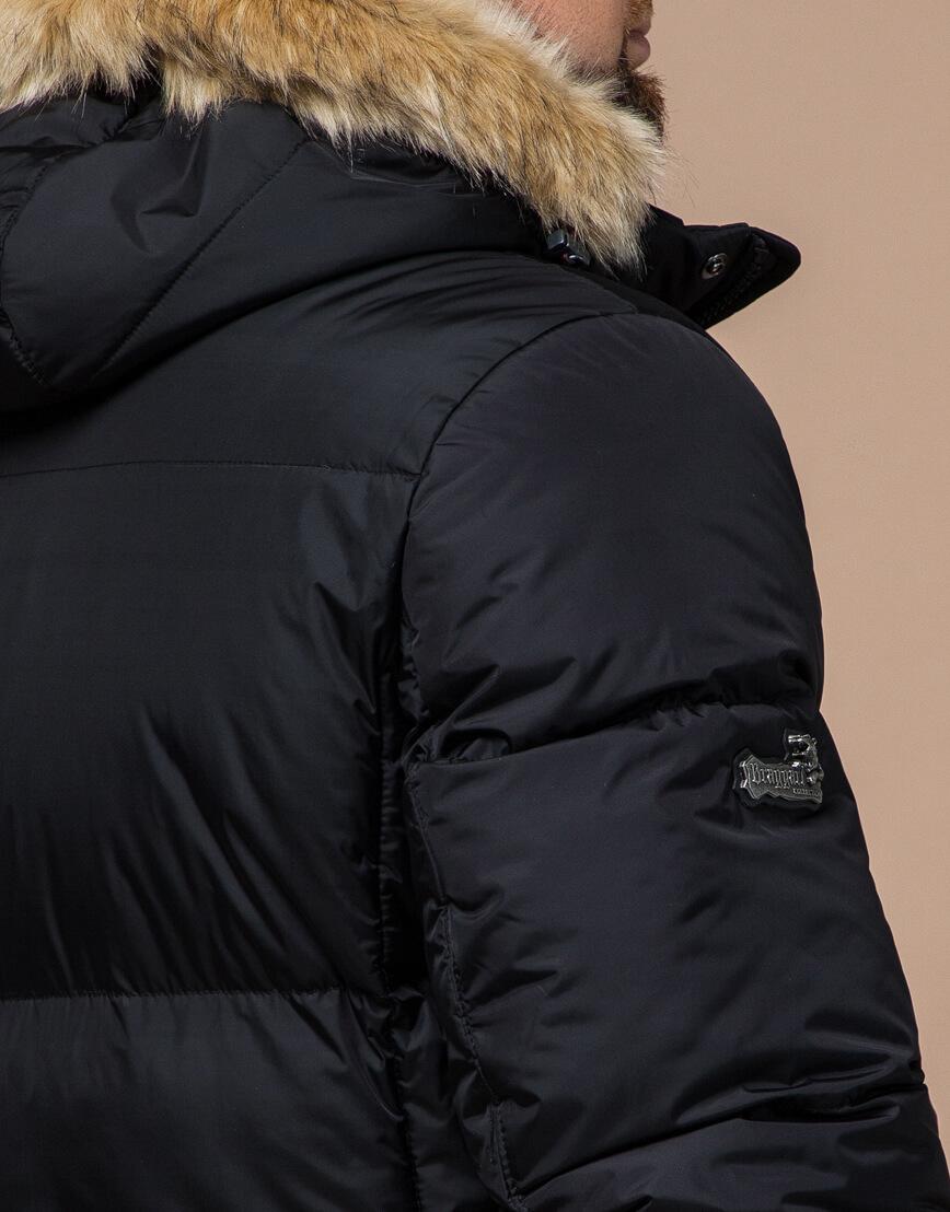Черная куртка удобная большого размера модель 2084 фото 6