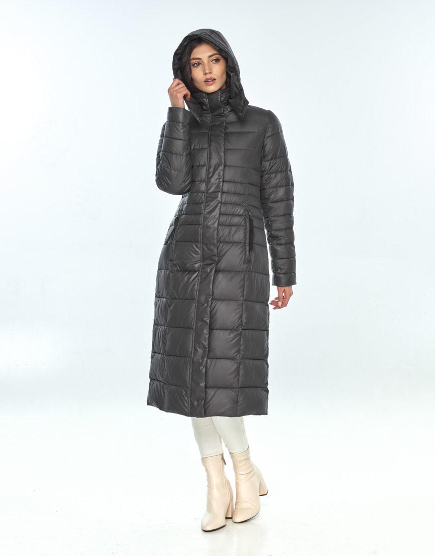 Оригинальная куртка большого размера женская Vivacana серая 8140/21 фото 2