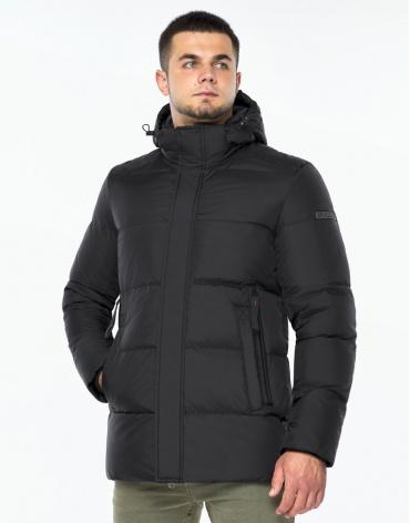 Черная куртка зимняя качественного пошива модель 43250