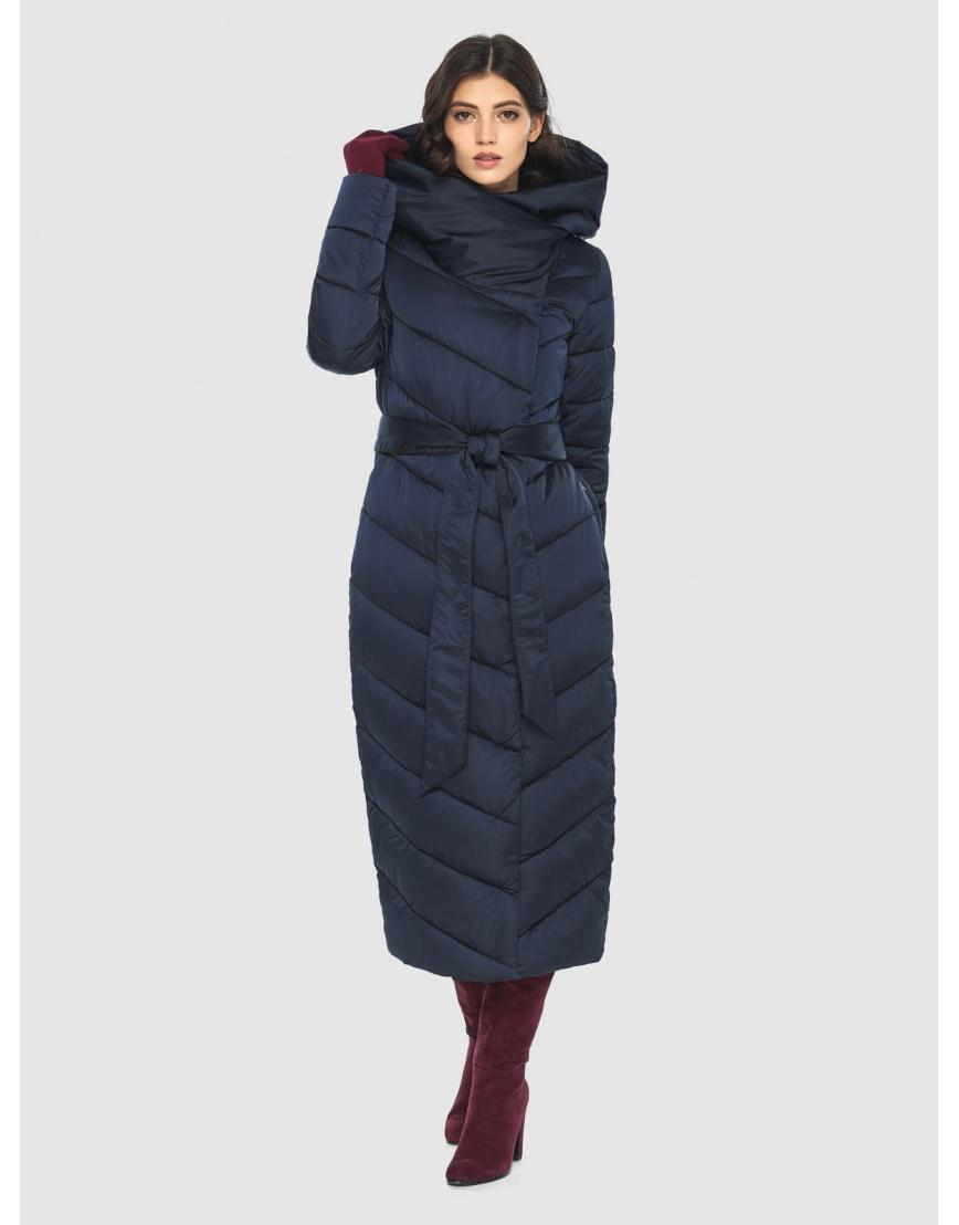 Современная синяя куртка женская Vivacana 9405/21 фото 1