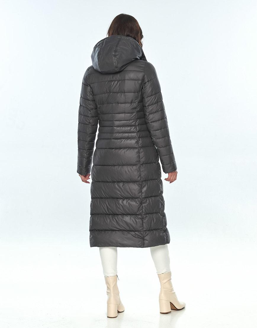 Оригинальная куртка большого размера женская Vivacana серая 8140/21 фото 3