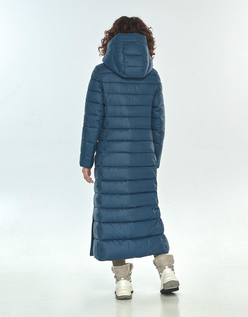 Синяя куртка женская Moc длинная M6210 фото 3