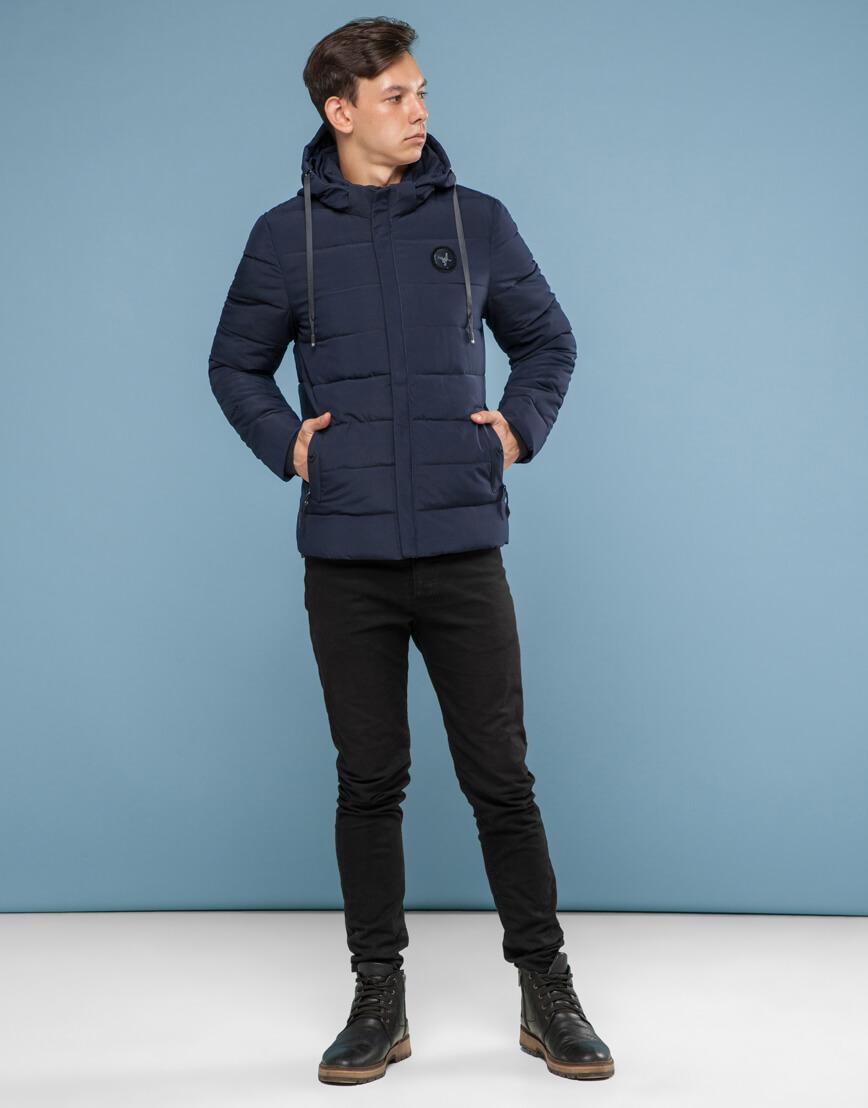 Синяя куртка с прочной фурнитурой модель 6015 фото 3