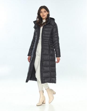 Куртка большого размера длинная женская Vivacana чёрная 8140/21 фото 1