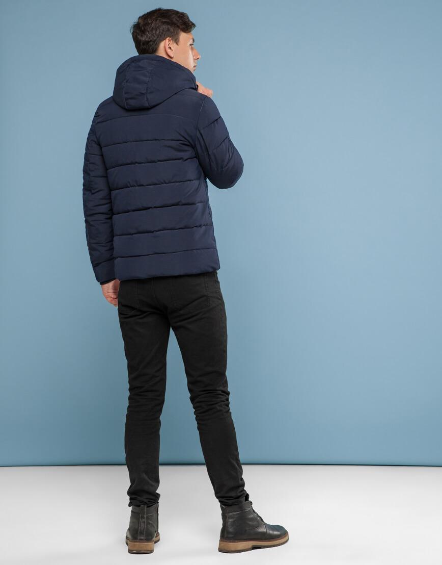 Синяя куртка с прочной фурнитурой модель 6015 фото 4