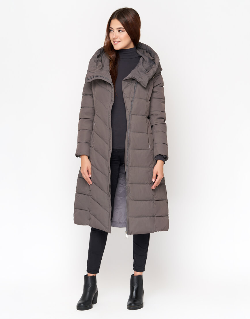 Куртка женская серого цвета высокого качества модель DR23