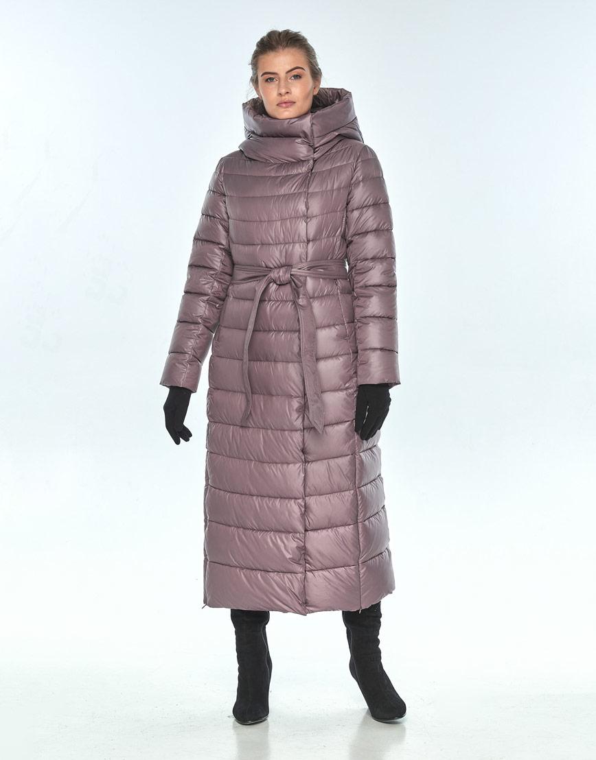 Женская куртка Ajento пудровая на молнии 23320 фото 2