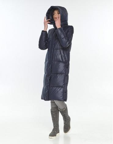 Куртка длинная подростковая Wild Club синяя зимняя 534-23 фото 1