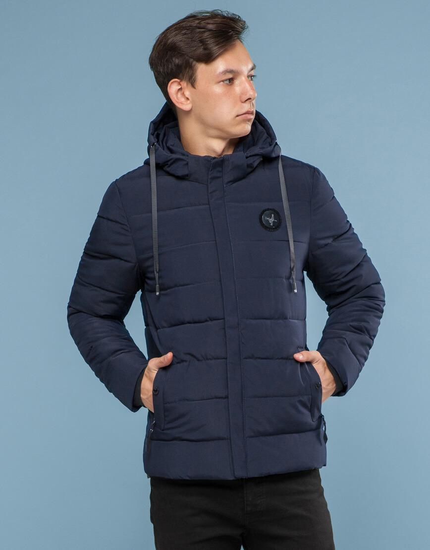 Синяя куртка с прочной фурнитурой модель 6015 фото 1