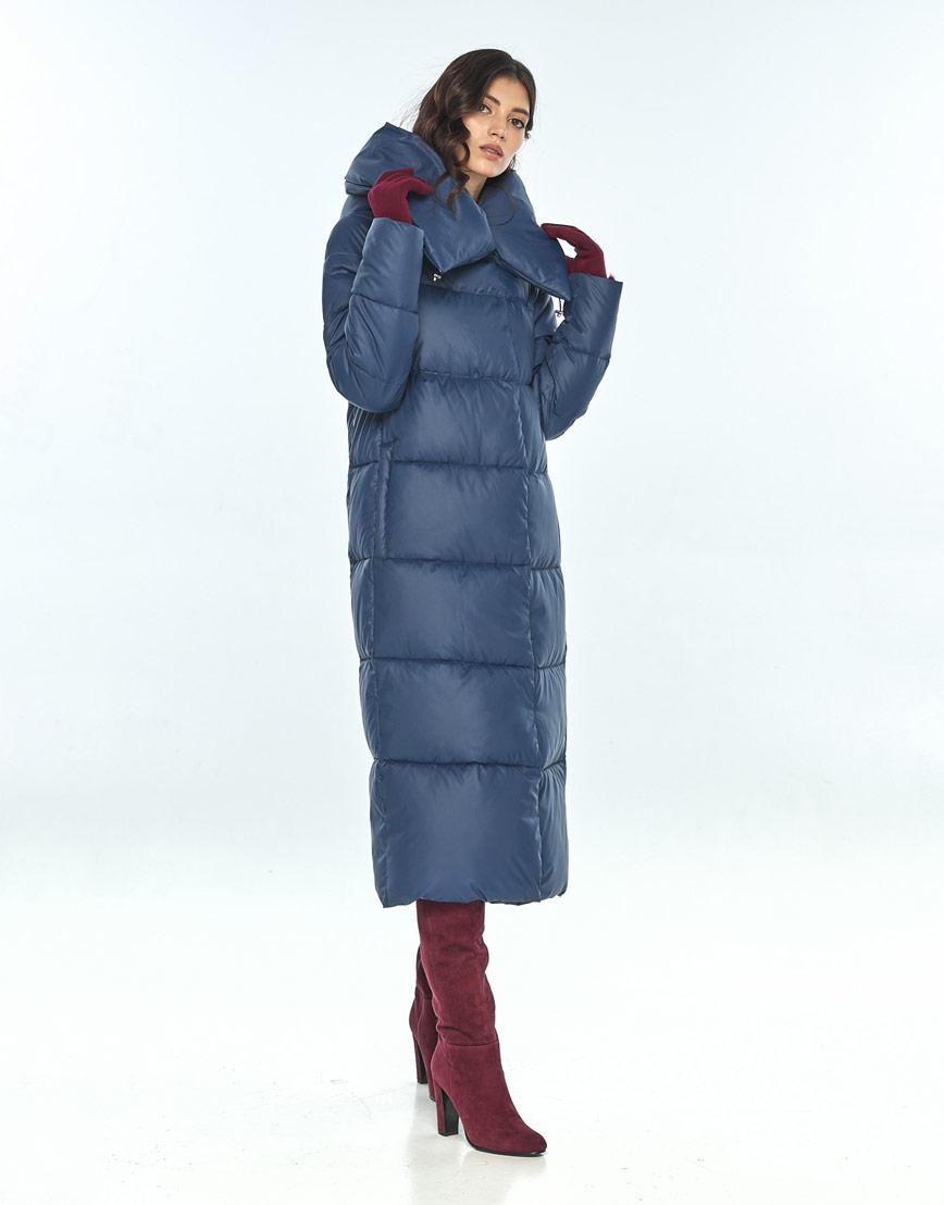 Куртка зимняя синего цвета женская Vivacana 9150/21 фото 2