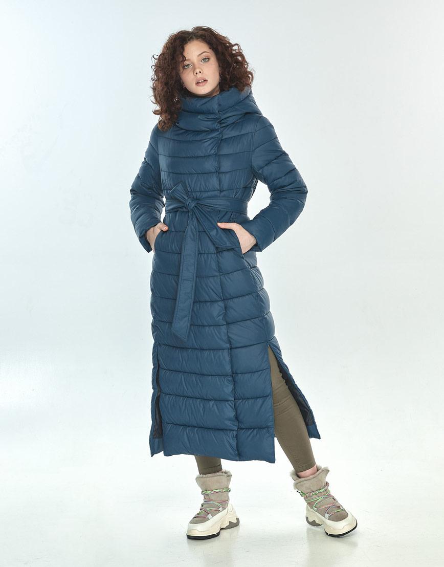 Синяя куртка женская Moc длинная M6210 фото 1