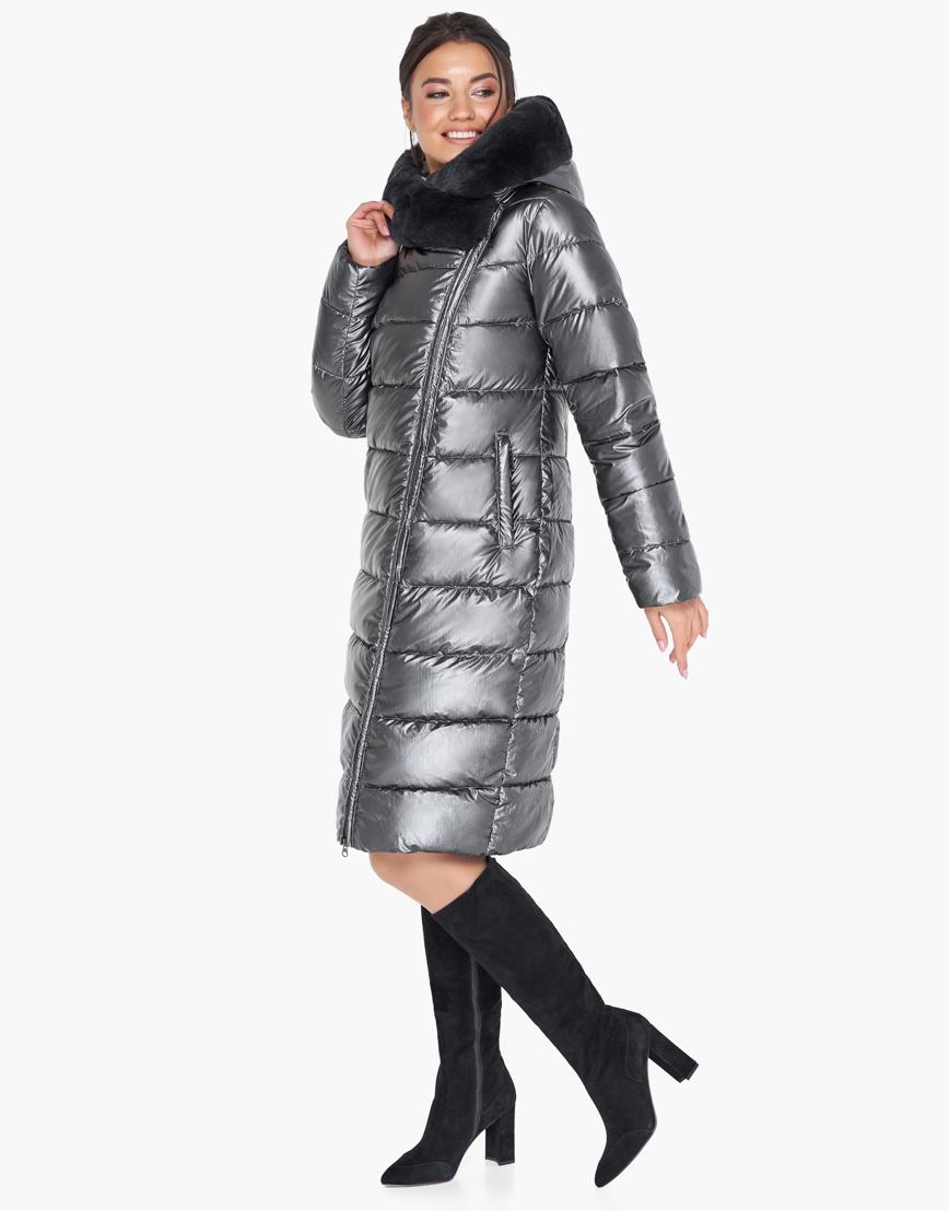Воздуховик Braggart зимний женский современный цвет темное серебро модель 31049