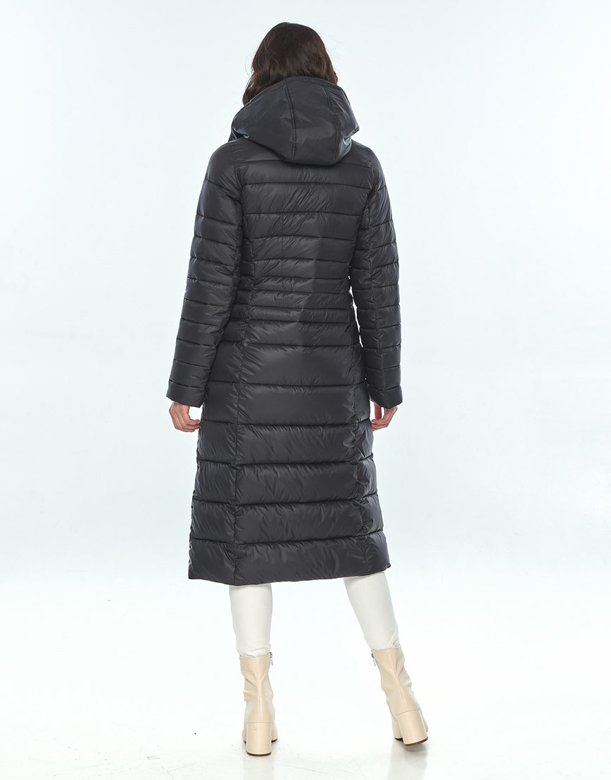 Куртка большого размера длинная женская Vivacana чёрная 8140/21 фото 3
