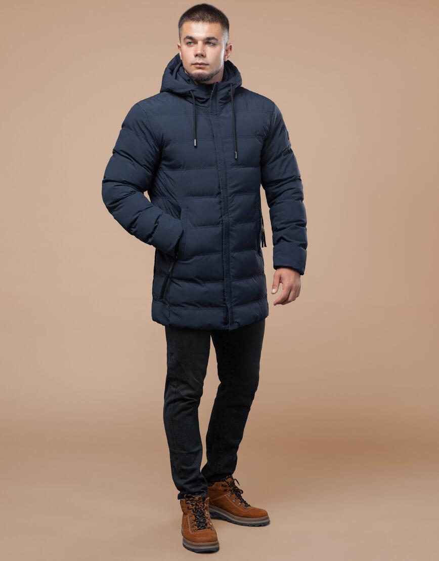 Синяя куртка молодежная качественная модель 25080
