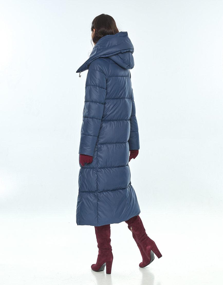 Куртка зимняя синего цвета женская Vivacana 9150/21 фото 3